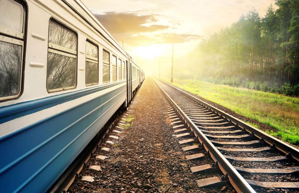 on the train again