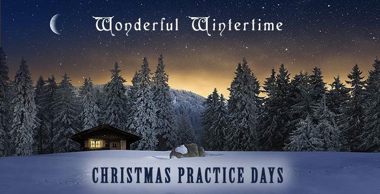 wonderful wintertime christmas practice days