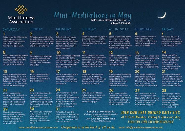 mini meditations in may