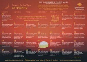 OBSERVING IN OCTOBER FREE CALENDAR