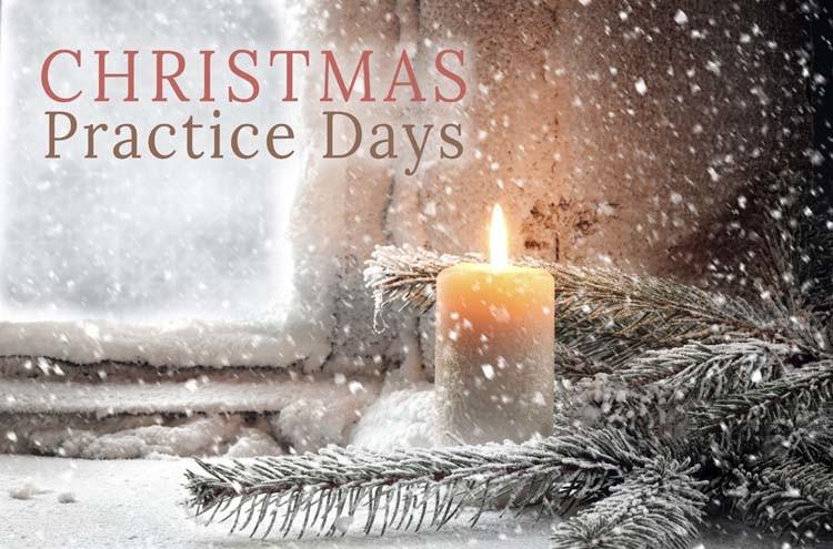 christmas practice days